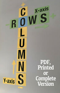 ROWS & COLUMNS CLASSROOM WALL DISPLAY MATHS / NUMERACY - FREE DELIVERY
