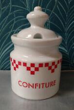 Grand pot à confiture céramique Geneviève Lethu modèle Damasse Style Lustucru