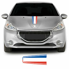 Peugeot 208 French Flag Bonnet Hood Racing Stripe Graphic Vinyl Decal Sticker