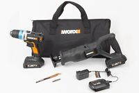 WORX WX950L 20V LI 2pc Combo Kit with Ai Drill and Reciprocating Saw