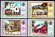 Seychellen 1977 ** Mi.410/13 Weihnachten Christmas Kirchen Churches [sp369]