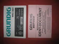 Grundig WKC3801 WKC 3801 Stereo Radio/unità di testa Nastro-vero e proprio manuale manuale