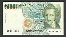 Italy Lire 5.000 FDS ass/gem UNC BELLINI Radar , Palindromo Decr. 26-11-1996 R