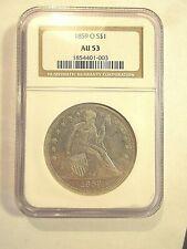 1859-O S Seated Liberty Dollar $1 NGC AU53