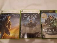 Xbox 360 Halo Lot: Combat Evolved 1 Wars and Halo 3