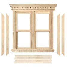 Puppenhaus Miniatur Öffnung doppelt Schärpe Holz Fenster