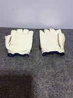 1 Pair DECADE Premium Style Vibration Isolating Work Gloves Half-Finger Size M