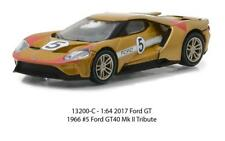 1/64 Greenlight Heritage Racing 2017 Ford GT 40 MK II Tribute #5 Gold 13200C