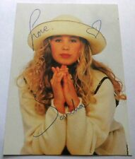 Sandra SCHWARZHAUPT jetzt Calderón - Klassik Pop - Karte mit Original-Autogramm