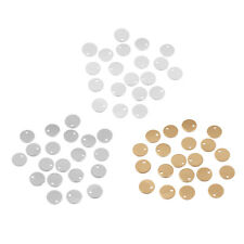 60 Pcs Mixed Color Round Coin Stamping Blank Tags Metal for Jewelry Findings