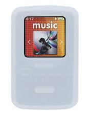 !!! Blanco Silicona piel caso para Sandisk MP3 Sansa Clip Zip Player Tapa Soporte!!