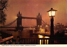 B99812 tower bridge and  the river thames london by night   uk