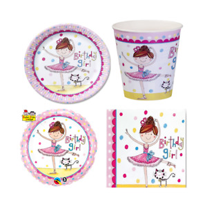 GIRL'S BALLET PARTY THEME BALLERINA THEMED PARTY TABLEWARE AND DECORRATIONS