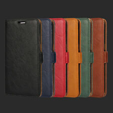 Luxury Soft Leather Flip Wallet Card Slot Case Cover For Samsung Galaxy