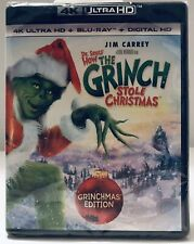 How The Grinch Stole Christmas (4k Ultra Hd + Blu-Ray + Digital Hd) New & Sealed