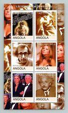 Angola Legends, HArry Houdini, Steven Spielberg, Woody Allen MNH M/S #M384