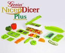 Premium Fruit Vegetable Slicer Nicer Dicer Plus Food Chopper Cutter Peeler 10in1