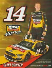 "2019 CLINT BOWYER ""RUSH TRUCK CENTERS"" #14 NASCAR MONSTER ENERGY CUP POSTCARD"