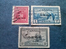 CANADA - OHMS OVERPRINT SC#04-SC#CO1-SC#08 USED