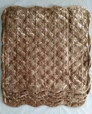 Elegant Faux Fur Pillow Sham new. Set of 4 Brown.