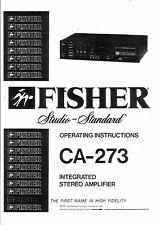 Fisher  Bedienungsanleitung user manual owners manual  für CA- 273