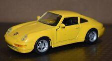 Porsche 911 Carrera 1/36 with Pull Back Action yellow no box Maisto