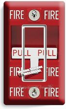 FIRE ALARM PULL DOWN SINGLE GFCI LIGHT SWITCH WALL PLATE COVER ROOM GARAGE DECOR