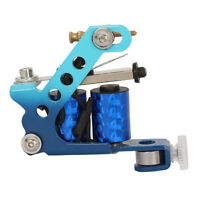 New Stamping Carbon Steel 8 Wraps Coils Tattoo Machine Liner Shader Gun Blue US