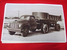 1954  STUDEBAKER TRACTOR & DUMP TRAILER  11 X 17  PHOTO   PICTURE