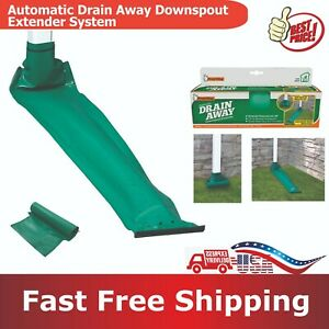 Downspout Extender System Gutter Drainage Extension Part Automatic Drain Away