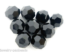 F1: 100 Schwarz Kristall Facettiert Böhmische Glasschliffperlen Beads 6mm