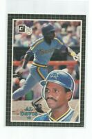 "AL DAVIS (Seattle Mariners) 1985 DONRUSS JUMBO CARD (3 1/2"" X 5"") #16"