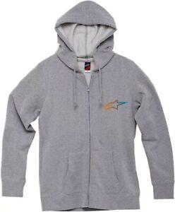 ALPINESTARS Women's XL AGELESS Gradient Zip Up Hoody Sweatshirt Grey Hoodie Gray