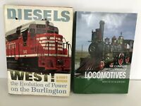 Lot Of 2 Railroad Train Locomotives Diesel Hardcover Books 2006 And 1963
