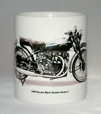 Motorbike Mug. Vincent Black Shadow Series C hand drawn illustration
