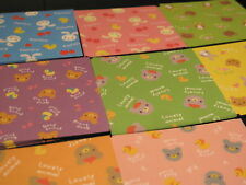 40 Animal Mini Origami Paper - Rabbit Bear Duck CUTE