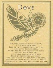 DOVE PRAYER Parchment Page for Book of Shadows, Altars!