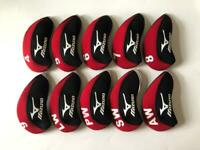 10PCS Golf Club Covers R/H for Mizuno Iron Headcovers 4-LW Red&Black Universal