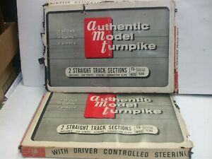 Vintage AMT Authentic Model Turnpike 2 sets TS-800 Straight Track Sections