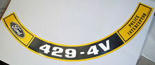 Ford & Mustang  429 Police Interceptor Air Cleaner Decal   #486