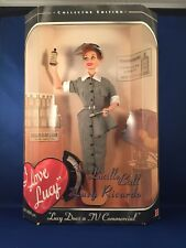 "1997 Mattel I love Lucy Barbie Vitameatavegamin ""Lucy Does A Tv Commercial"" Nib"