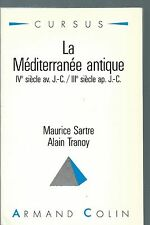 (65938) - SARTRE et TRANOY, La Méditerranée antique (A. Colin).
