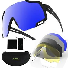 Cycling Sunglasses Polarised lenses revo mirror and interchangeable 5 lenses