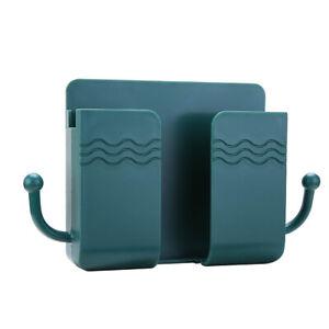 Wall Mounted Holder Storage Box Remote Control Mobile Phone Plug Organizer
