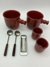 Feuerzangenbowle Tassen Tassenset aus Keramik, rot - SUPER ZUSTAND