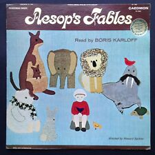 Boris Karloff Reads AESOP'S FABLES LP Rare Stories Compilation 1967 Caedmon USA