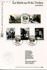 FDC / PREMIER JOUR / LE SIECLE AU FIL DU TIMBRE / VIE COTIDIENNE PARIS 2002
