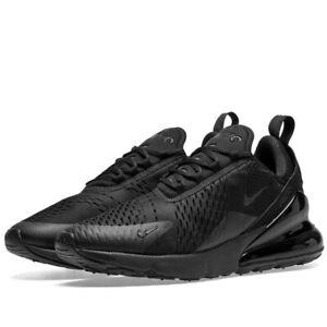Nike Air Max 270 'Triple Black' Mens Trainers Uk Size 8.5 EUR 43 AH8050 005 New