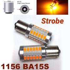 Strobe 1156 BA15S 7506 3497 P21W 33 SMD samsung LED Amber Front Signal M1 MAR