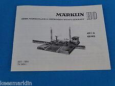 Marklin 459/1 - 459 MG Electr. RR Crossing  Replica booklet 0456